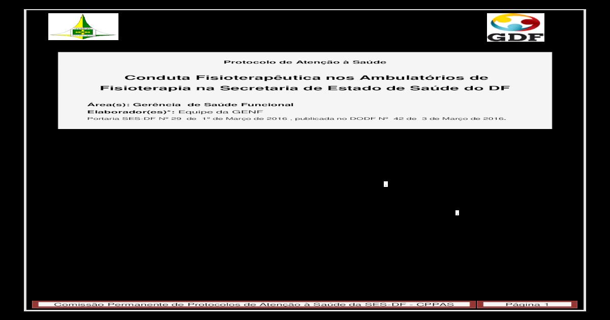Conduta Fisioteraputica nos Ambulatrios de ? R26